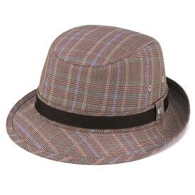 borsalino アルペンハット 春夏 2017 ボルサリーノ 帽子 グレンチェック ジニョーネ ハット アルペン ハット 大きいサイズ チェック柄 zignone 紳士 帽子 ブランド ソフト 茶 ブラウン系 [ alpine hat ] 男性 プレゼント ボルサリーノ 帽子通販 50代 60代 誕生日