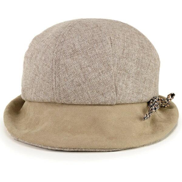 DAKS レディース ハット ダックス 帽子 ハウスチェック りぼん 秋 冬 前つば長め UVカット 紫外線対策 帽子 オブザーハット 大人 かわいい 帽子 普段使い お洒落 ミセスハット 日本製 上品 ベージュ[ hat ]母の日 プレゼント
