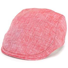 ボルサリーノ ハンチング borsalino 帽子 麻 リネン 大きいサイズ Lサイズ LLサイズ ハードマンズ ハンチング帽 紳士 春夏 ぼうし 涼しい ナチュラル / 赤 レッド [ ivy cap ] ボルサリーノ 日本製 通販 帽子 プレゼント 還暦祝い 贈り物 男性