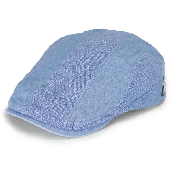 シナコバ デニム ハンチング メンズ 春夏 日本製 sinacova ハンチング帽 パッチワーク デニムキャップ マリンコーデ 40代 50代 60代 70代 紳士 ブランド ファッション 綿 麻 青 ブルー [ ivy cap ](メンズ帽子 ハンチング帽 紳士帽子 ハンチング帽子 おしゃれ 通販 ぼうし)
