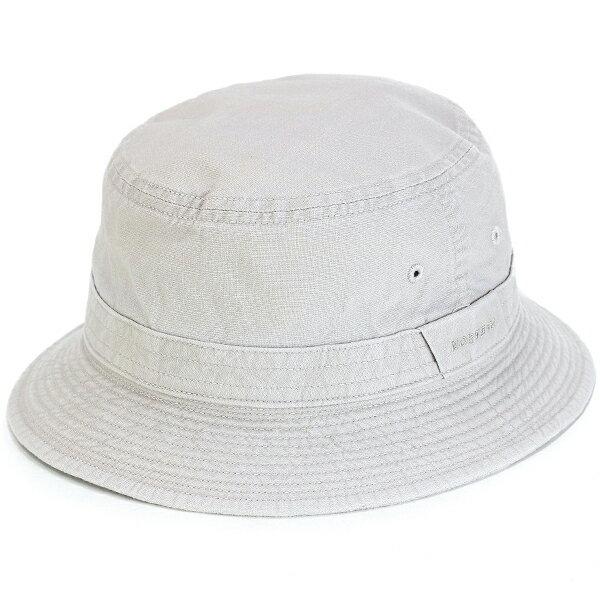 サファリハット メンズ 春夏 ステットソン 帽子 日本製 小さいサイズ 大きいサイズ サハリハット ウォッシュドコットン stetson ハット 折りたたみ可 手洗い可 バケットハット S M L LL 3L 4L 5L サイズ豊富 ライトグレー [ bucket hat ] stetson 帽子通販