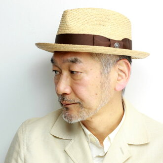 stetson straw hat りぼん men's big size M LL XL Stetson straw hat soft felt hat hat lady's SS17 42NDSTREET hat raffia nature material soft cap unisex きれいめ coordinates brown ribbon / natural [fedora] in the spring and summer [straw hat]