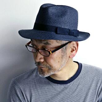 GALLIANO SORBATTI帽子人意大利制造纸刀刃舒适之帽大的尺寸女子的宽大的帽子中的去春天夏天草帽优雅帽子名牌加里阿诺苏尔巴蒂/藏青色深蓝[straw hat]父亲节礼物礼物