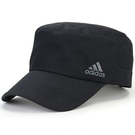 ワークキャップ メンズ adidas スポーツ アディダス 帽子 キャップ 57cm 58cm 59cm 60cm 61cm 62cm 63cm cap フリーサイズ 大きいサイズ マジックテープ サイズ調整 夏 サマーキャップ 涼しい / 黒 ブラック [ cadet cap ] ギフト プレゼント