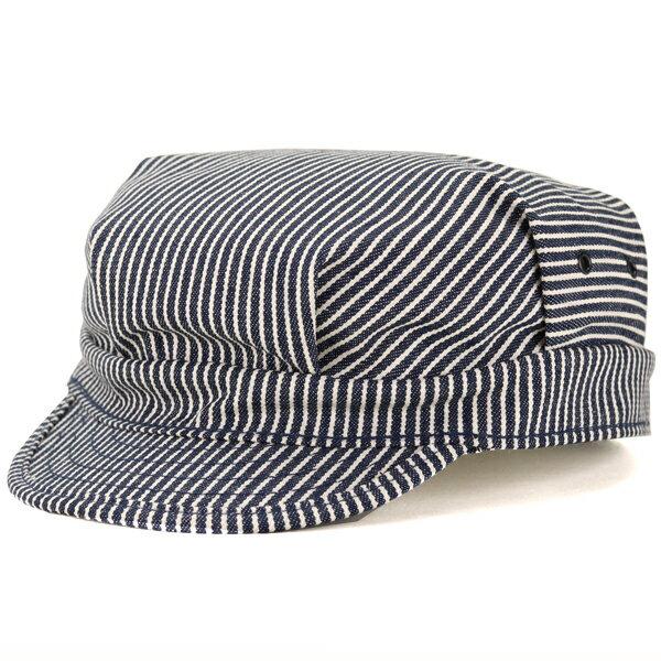 ワークキャップ ストライプ 帽子 メンズ ニューヨークハット ワイドキャップ インポート ブランド NEW YORK HAT ストリート キャップ レディース アメリカ製 小さいサイズ 大きいサイズ 紺 ヒッコリー ストライプ [ cadet cap ] プレゼント 男性 女性 ギフト