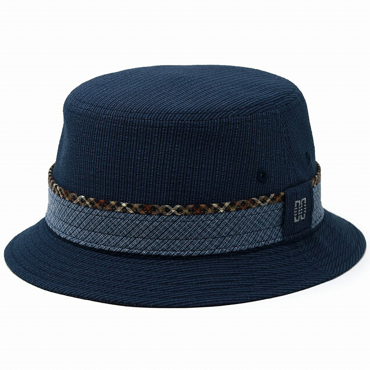 サファリハット メンズ ダックス サハリハット サッカー生地 ストライプ 通気性の良い daks 春夏 帽子 メンズ DAKS メッシュ 涼しい 日本製 サッカーストライプ ハット 小さいサイズ 大きいサイズ S M L / 紺 ネイビー [ bucket hat ] ギフト プレゼント 帽子通販
