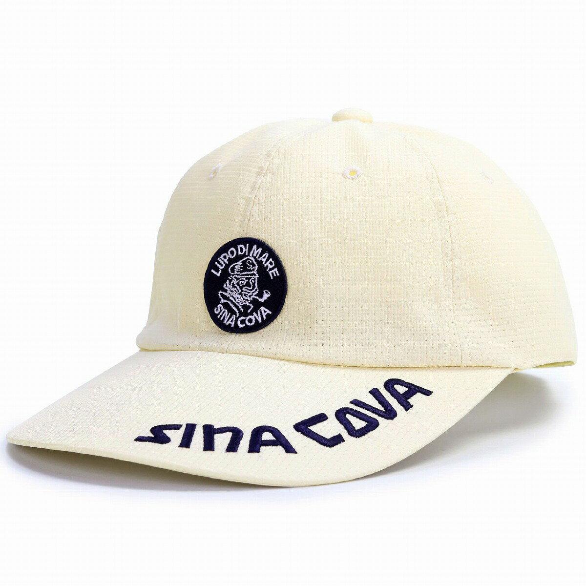 シナコバ キャップ メンズ 帽子 大きいサイズ M L LL 通気性抜群 キャップ 日本製 野球帽 紳士 春夏 涼しい 日よけ ワイドブリム マリン コーデ sinacova ドットエア 帽子 スポーツ ワイド 大きいツバ アジャスター サイズ調整 / ベージュ [ baseball cap ]