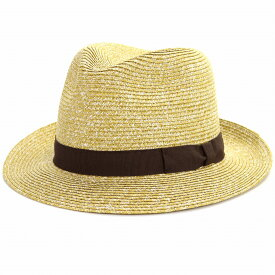 GALLIANO SORBATTI 帽子 メンズ ペーパー ブレード 春夏 ストローハット レディース ワイド ハット ガリアーノ ソルバッティ 麦わら帽子 イタリア製 中折れ帽 紳士 大きいサイズ ハット ブランド インポート 中折れハット 57cm 59cm 61cm / カラシ [ straw hat ]