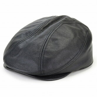 It is a leather hunting cap for 60 generations for 50 generations for present hat man 40 generations in HENSCHEL ivy cap leather accessory fashion Shin pull plain fabric / black black [ivy cap] Father's Day lady's in leather hunting cap genuine leather h