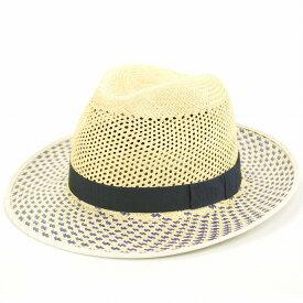 パナマハット メンズ CHRISTYS' LONDON 帽子 クリスティーズ ロンドン 中折れ帽 春夏 パナマ帽 イングランド製 パナマ100% ハット レディース パナマ帽子 柄 お洒落 上品 高級 / インクブルー×ナチュラル ネイビー ベージュ [ panama hat ]