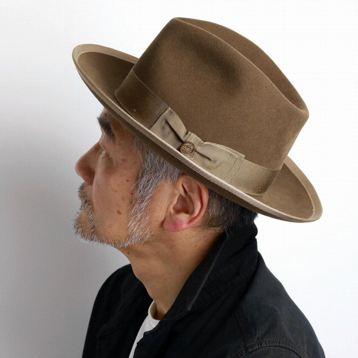 ステットソン フェルトハット メンズ 中折れハット ヴィンテージ ウィペット 中折れ帽 紳士 高級 ハット STETSON WHIPPET アメリカ ブランド 帽子 クラシカル ベージュ [ fedora ] stetson 帽子通販 男性 帽子 クリスマス ギフト プレゼント