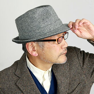 Gift gray [fedora] made in size 60cm 62cm カシュケットウール soft felt hat KASZKIET Poland which a hat men Harris Tweed soft felt hat hat has a big in the fall and winter (fashion hunting cap hat wool size grain gentleman hat present ぼうしおしゃれ man in 40s in 50s in
