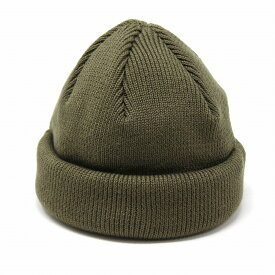 ラカル 帽子 ロールニットキャップ レディース 春夏 ラカル ロールキャップ リブニット cap フィッシャーマンキャップ メンズ 秋冬 ワッチキャップ ニット帽 日本製 racal / オリーブ [ roll knit cap ]
