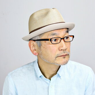 It is a present gift hat on hat natural / beige [fedora] Respect for the Aged Day in size size adjustment summer when I do hat hemp 100% hat soft felt hat gentleman soft cap ribbon refreshing cool air in hat China Mai soft felt hat hat men spring and sum