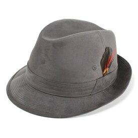 スウェード 中折れ帽子 ヌバック ボルサリーノ メンズ 帽子 ブランド Borsalino 合成皮革 エルモザ素材 チャコールグレー (中折れハット プレゼント 通販 カメラマンハット メンズ 中折れハット ボルサリーノ 50代 ボルサリーノ)