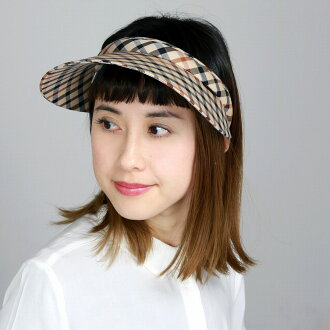 It is a gift present in UV measures walking sports tennis golf sportswear accessory beige system check [visor] Mother's Day made in daks sun visor awning DAKS visor Lady's Daks cotton twill house check hat Japan in the spring and summer
