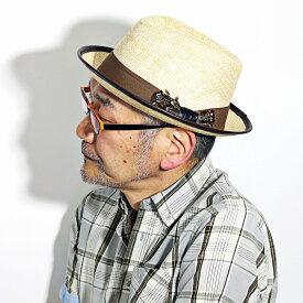 カルロス サンタナ ハット メンズ 中折れ 麦わら帽子 大きいサイズ M L XL インポート ブランド CARLOS SANTANA ストローハット レディース 春 夏 個性的 ペーパーハット フェザー リボン / 茶 ブラウン ナチュラル [ straw hat ] 父の日 ギフト お父さん プレゼント