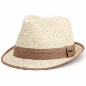 ハット メンズ シンプル ステットソン stetson Cloth Fedora 帽子 ふはく 織物 中折れ帽 紳士 布帛 サマーハット インポート ブランド 春 夏 リボン ベージュ / ティー [ fedora ] stetson 帽子通販 男性 誕生日 ギフト 父の日 プレゼント ラッピング無料