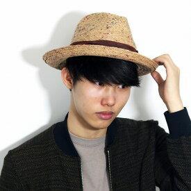 BROOKLYN HAT 麦わら帽子 ラフィア ハット 中折れ 帽子 ブルックリンハット リゾート ストロー ハット メンズ レディース 春 夏 ナチュラル ティー [ fedora ] [ straw hat ] 父の日 プレゼント 誕生日 プレゼント