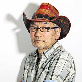 アメリカン カウボーイハット 春 夏 DPC OUTDOOR 麦わら帽子 ドーフマンアウトドア メンズ ウェスタンハット 星条旗 ストローハット ペーパーハット 涼しい レディース DORFMAN PACIFIC カウボーイ 帽子 紺 ネイビー [ cowboy hat ] [ straw hat ]