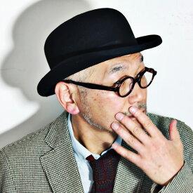 【お得なクーポン配布中】 CHRISTYS' LONDON 帽子 ボーラーハット クリスティーズロンドン ダービーハット フェルトハット メンズ レディース 秋冬 ブラック 黒 [bowler hat] フェルト