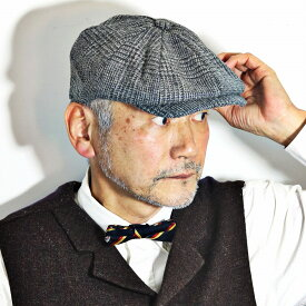 【お得なクーポン配布中】 キャスケット 秋 冬 メンズ クラシック 帽子 キャスケット帽 ツイード 英国 ブランド クリスティーズ ロンドン ハンチング帽 紳士 グレンチェック CHRISTYS' LONDON Baker Boy チェック ライトグレー [ newsboy cap ] 父の日 プレゼン