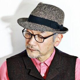 メンズ ハット 帽子 中折れハット SARTORIAL CROWN NEWYORK 中折れ帽子 秋 冬 中折れ帽 [ fedora ] 茶 ブラウン