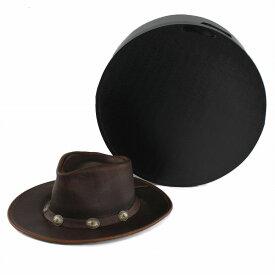帽子保管箱 ハットケース ギフトボックス 帽子 収納 直径39cm 帽子入れ クローゼット 収納グッズ 帽子ケース 型崩れ防止 黒 ブラック[ hatbox ]
