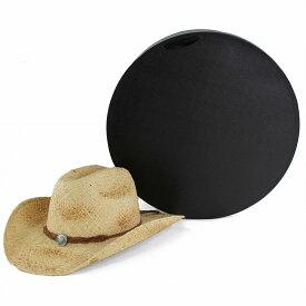 帽子保管箱 ハットケース ギフトボックス 帽子 収納 帽子入れ クローゼット 収納グッズ 帽子ケース直径41cm 帽子 プレゼント ラッピング用品 型崩れ防止 / 黒 ブラック[ hat box ]