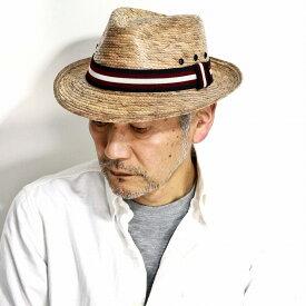 DPC ストローハット メンズ リボン 帽子 パームブレード DORFMAN PACIFIC 中折れ ハット 春 夏 ドーフマン 麦わら帽子 レディース ブレードハット DPC1921 PALMETTO 柄エンジリボン Striped [ straw hat ][ fedora ]