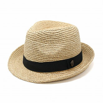 It is summer in the size hat nature grass hat straw hat size grain unisex / natural [straw hat] [fedora] lapping for free Father's Day which compromises, and is big out of the blade hat men with the straw hat raffia emblem wind-wrought pattern on the san