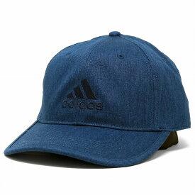 adidas キャップ デニム コットン メンズ アディダス 帽子 レディース ロゴキャップ フリーサイズ 57-60cm サイズ調整 スポーツ ブランド / 紺 ネイビー [ baseball cap ] 誕生日 プレゼント ギフト ラッピング無料