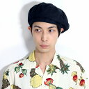 d95432e0 It is gift present lapping for free in the KNOX hat men beret plain fabric  Shin pull 59cm size adjustment / black black [beret] Father's Day that beret  hemp ...