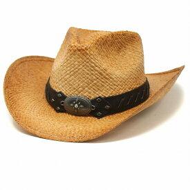 テンガロンハット メンズ 革ベルト ストローハット アメリカ ブランド ヘンシェル 帽子 中折れ 春 夏 日よけ HENSCHEL カウボーイハット レディース ラフィア ハット ワイヤー入り ウエスタンハット 天然草 テンガロンハット / ナチュラル [ cowboy hat ] [ straw hat ]