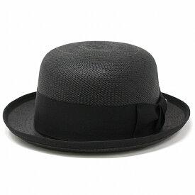 """Bailey パナマ ボーラーハット 春 夏 ベイリー パナマハット メンズ インポート 海外ブランド 帽子 アメリカ製 パナマ帽 紳士 シンプル 無地 M L XL """"CHAPLIN"""" Genuine Panama Bowler/ 黒 ブラック[ panama hat ][ boater hat ]父の日 ギフト プレゼント ラッピング無料"""