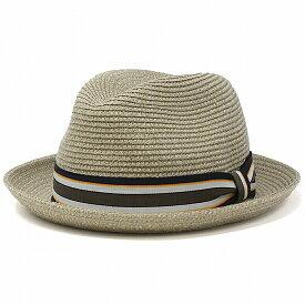ペーパーブレード Bailey 帽子 春 夏 ストローハット メンズ ベイリー 中折れハット 涼しい ハット 海外ブランド 麦わら帽子 おしゃれ 中折れ帽 紳士 ストライプリボン ベージュ系 ドリフトウッド[ paper hat ][ fedora ]父の日 ギフト プレゼント ラッピング無料
