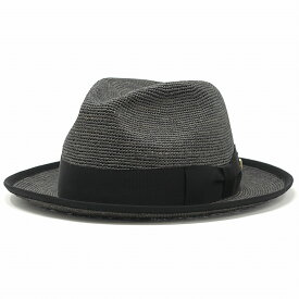 春 夏 KNOX ラフィア ハット 麦わら帽子 ノックス 日本製 ストローハット ワイド 中折れ 涼しい 海外ブランド 帽子メンズ 58cm 60cm 62cm / グレー[ fedora ][ straw hat ]父の日 ギフト プレゼント ラッピング無料