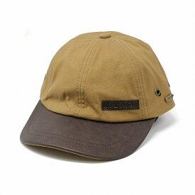 ヴィンテージ 6方キャップ STETSON 帽子 CAP オールシーズン カジュアル 海外ブランド メンズ レディース ステットソン Cotton Blend cap with Leather Peak ベージュ[ cap ]男性 プレゼント 帽子通販 父の日 贈り物 ラッピング無料
