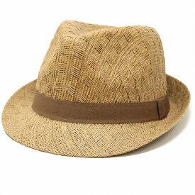 HENSCHEL 中折れハット メンズ 春夏 帽子 メンズ 涼しい ストローハット メンズ レディース ペーパー ブランド ヘンシェル 中折れ帽 / ナチュラル ベージュ ウィート[ fedora ] [ straw hat ] 父の日 プレゼント ギフト ラッピング無料