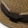 意大利制造舒适之帽GALLIANO SORBATTI帽子纸刀刃猪肉派帽子春天夏天草帽刀刃帽子人加里阿诺苏尔巴蒂帽子女士55.5cm~58.5cm/guroguranribon茶棕色[straw hat][pork-pie hat]父亲节礼物