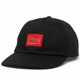 マンハッタンポーテージ ツイル コットン キャップ Manhattan Portage メンズ レディース 6パネルキャップ 帽子 黒 ブラック [ cap ] リンクコーデ 小物 帽子プレゼント ギフト ラッピング無料