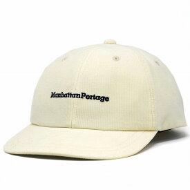 マンハッタンポーテージ 帽子 キャップ コーデュロイ メンズ オールシーズン Manhattan Portage ロゴキャップ マンハッタンポーテージレディース ミジンコール 細いコーデュロイ 白 オフホワイト [ cap ] リンクコーデ 小物 帽子プレゼント ギフト ラッピング無料