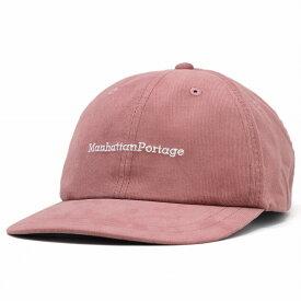 マンハッタンポーテージ 帽子 ミジンコール コーデュロイ レディース キャップ Manhattan Portage メンズ 細いコーデュロイ コットン ユニセックス ピンク [ cap ] リンクコーデ 小物 帽子プレゼント ギフト ラッピング無料