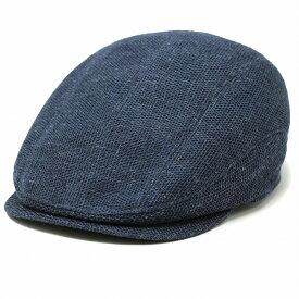 麻 ハンチング メッシュ 日本製 メンズ 麻100% ハンチング帽 メンズ 夏 MATSUI 帽子 メンズ サイズ調整可能 マツイ 帽子 紳士 ハンチング帽子 夏用 通気性抜群 春 夏 / 紺 ネイビー [ ivy cap ] 父の日 ギフト プレゼント ラッピング無料