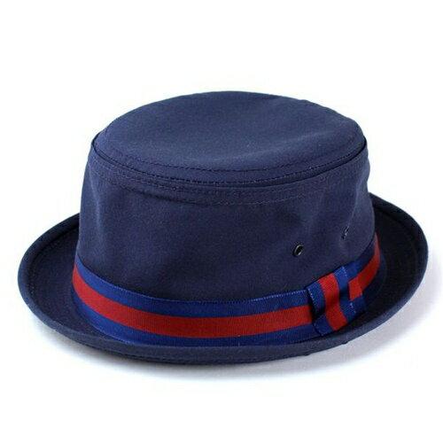 ニューヨークハット ハット リボン ポークパイハット 帽子 New York Hat メンズ 紺 ネイビー Fishermans Bucket Navy 3025