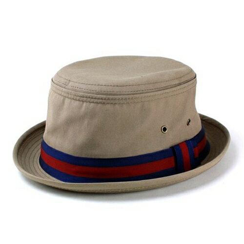 帽子 ハット メンズ ニューヨークハット リボン ポークパイハット New York Hat 茶 ブラウン Fishermans Bucket Tan 3025