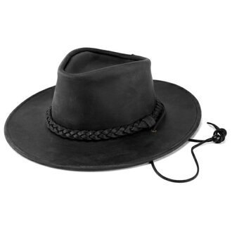 Leather cowboy hat and leather hats, Henschel / 1154-39 / riding / Western/hats/men 's/women's / horse riding / hat / made in USA/USA / black (hat gallon Western Hat)