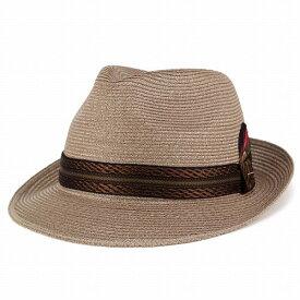 帽子 メンズ 中折れハット KNOX リネンブレード 帽子 ノックス ストローハット レディース 麦わら 系 光沢 帽子 夏 ブラウン [ fedora ] [ straw hat ] 送料無料 (ぼうし おしゃれ サマーハット 麦わらぼうし 30代 50代 オシャレ ユニセックス 中折れ帽)
