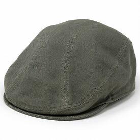 NEW YORK HAT ハンチング 綿100% ニューヨークハット 帽子 メンズ キャンバス ナチュラル 爽やか ハンチング帽 紳士 無地 綿素材 シンプル キャンバス生地 シンプル 春 夏 レディース / オリーブ [ ivy cap ]