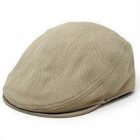コットン ハンチング メンズ ニューヨークハット 帽子 キャンバス ナチュラル 爽やか NEW YORK HAT 綿100% ハンチング帽 紳士 無地 シンプル キャンバス生地 カジュアル アイビーキャップ 春 夏 レディース / カーキ [ ivy cap ]